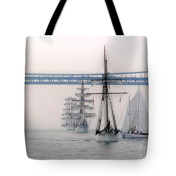 Crystal Ships On The Water Nyc Tote Bag by Ed Weidman