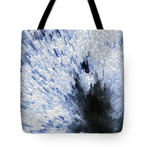 Crystal Star - Black And White Abstract Art By Sharon Cummings Tote Bag by Sharon Cummings