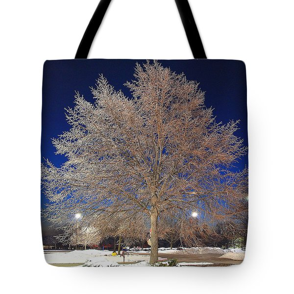 Crystal Tree Tote Bag by Frozen in Time Fine Art Photography