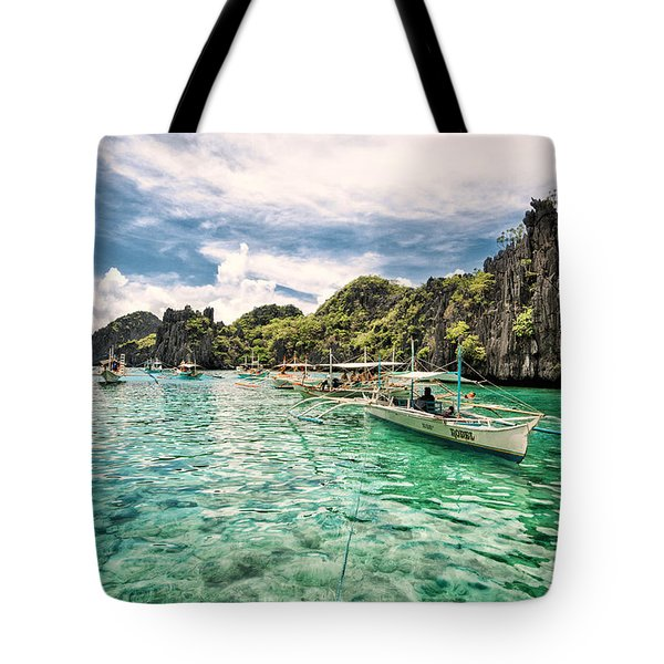 Tote Bag featuring the photograph Crystal Water Fun Land by John Swartz