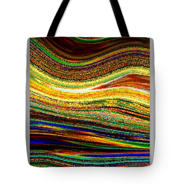 Crystal Waves Abstract 1 Tote Bag by Carol Groenen