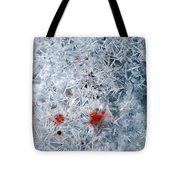 Crystallized Ice Tote Bag by Marcia Lee Jones