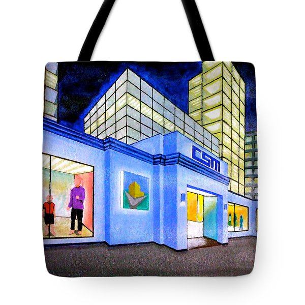 Tote Bag featuring the painting Csm Mall by Cyril Maza