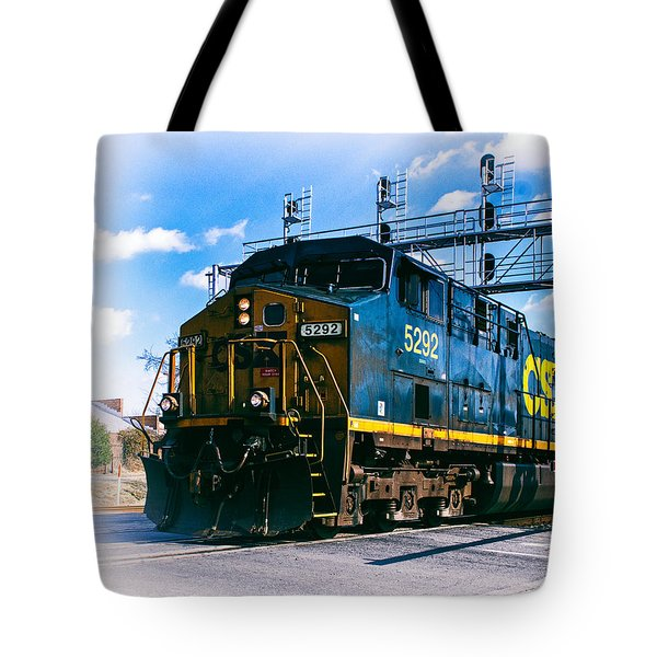Csx 5292 Warner Street Crossing Tote Bag