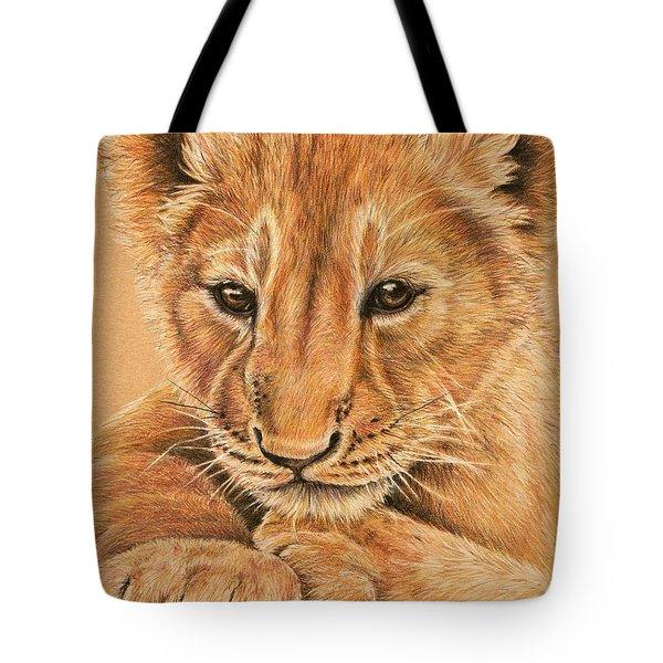 cub Tote Bag by Heidi Kriel