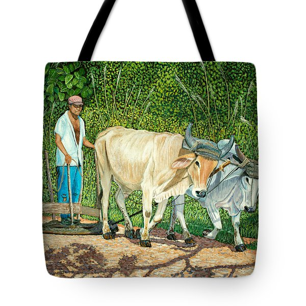 Cuban Countryman Tote Bag by Manuel Lopez