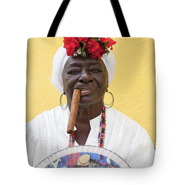 Cuban Lady Two Tote Bag by Chris Dutton