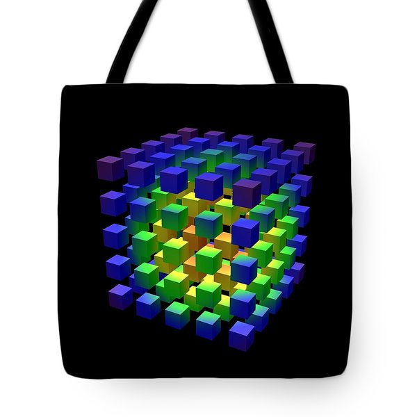 Tote Bag featuring the digital art Cube Of Cubes... by Tim Fillingim
