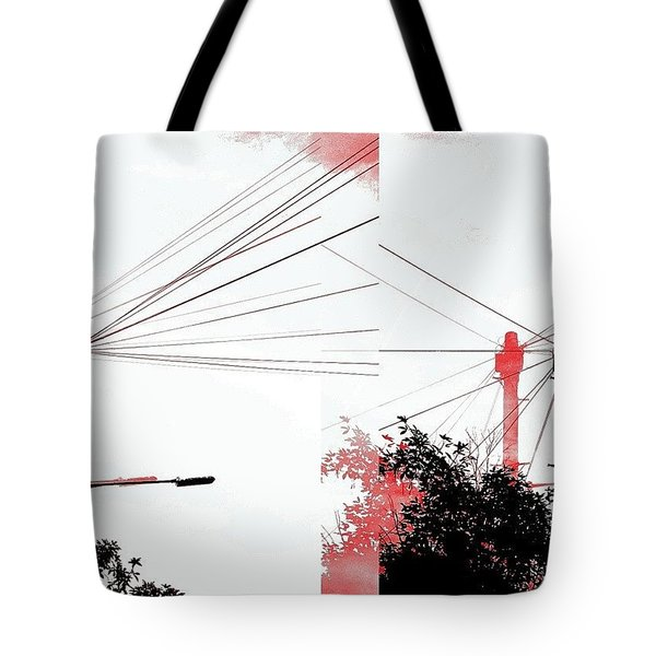 Cubist Sky  Tote Bag
