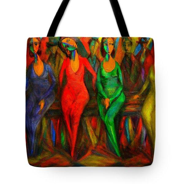 Cubism Dance  Tote Bag