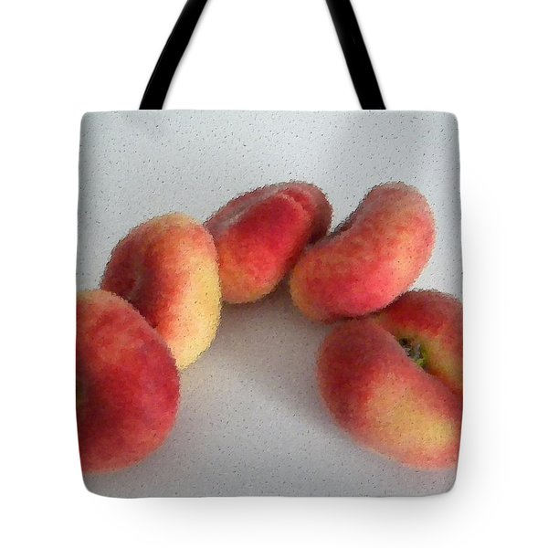 Cubist View Of Peento Peaches Tote Bag by Manuela Constantin