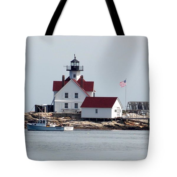 Cuckholds Lighthouse Tote Bag by Catherine Gagne