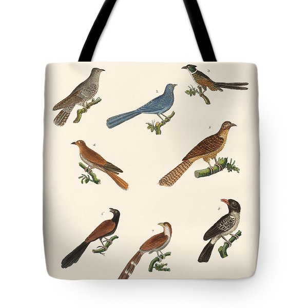Cuckoos From Various Countries Tote Bag by Splendid Art Prints