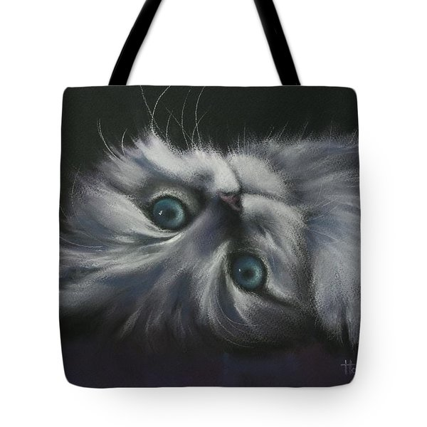 Tote Bag featuring the drawing Cuddles by Cynthia House