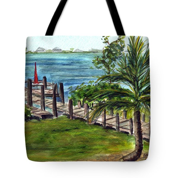 Cudjoe Dock Tote Bag