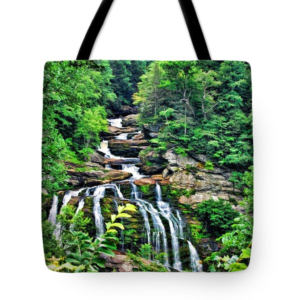 Tote Bag featuring the photograph Cullasaja Falls by Kenny Francis