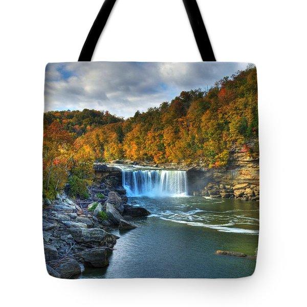 Cumberland Falls In Autumn Tote Bag