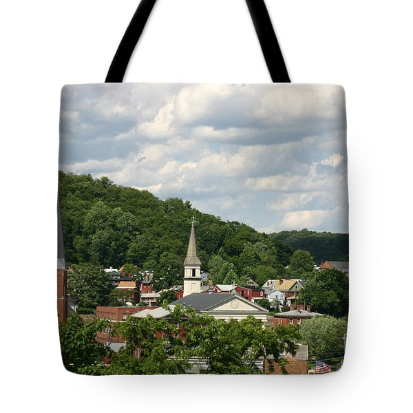 Cumberland Steeples Tote Bag by Jeannette Hunt