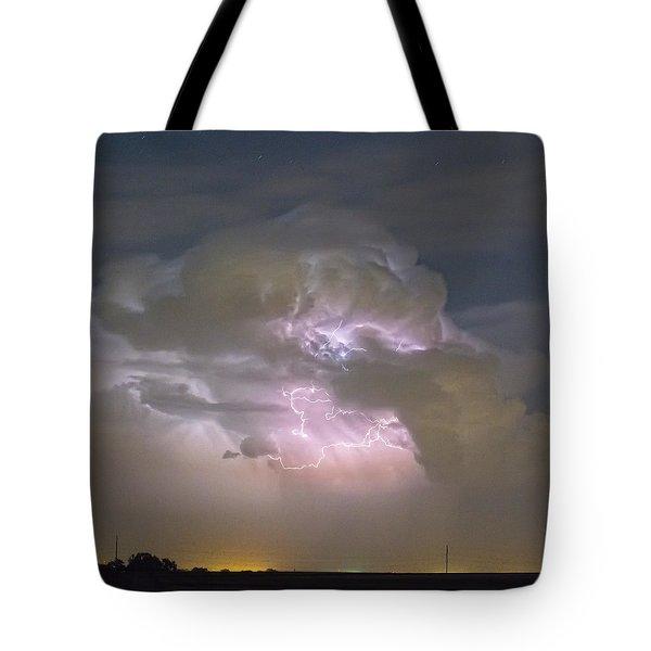 Cumulonimbus Cloud Explosion Portrait Tote Bag by James BO  Insogna