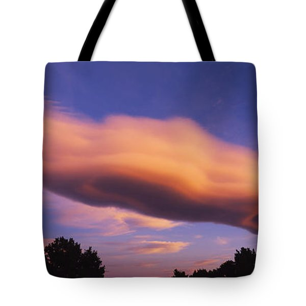 Cumulus Clouds In The Sky At Dusk, Paso Tote Bag