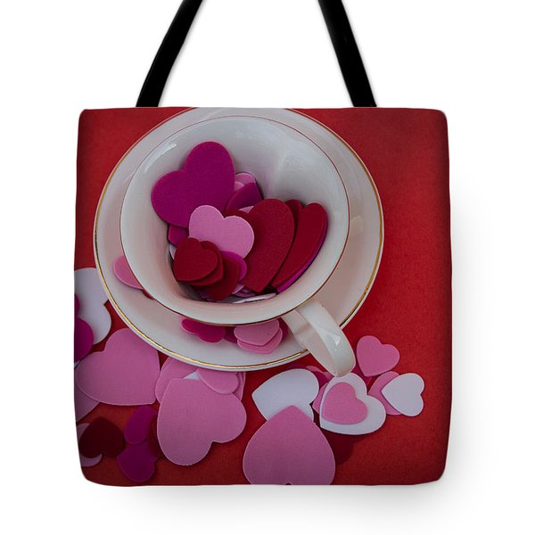Tote Bag featuring the photograph Cup Full Of Love by Patrice Zinck