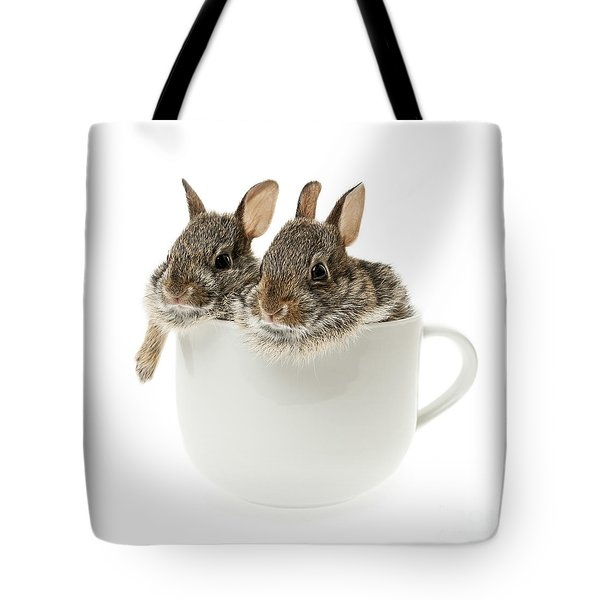 Cup Of Bunnies Tote Bag