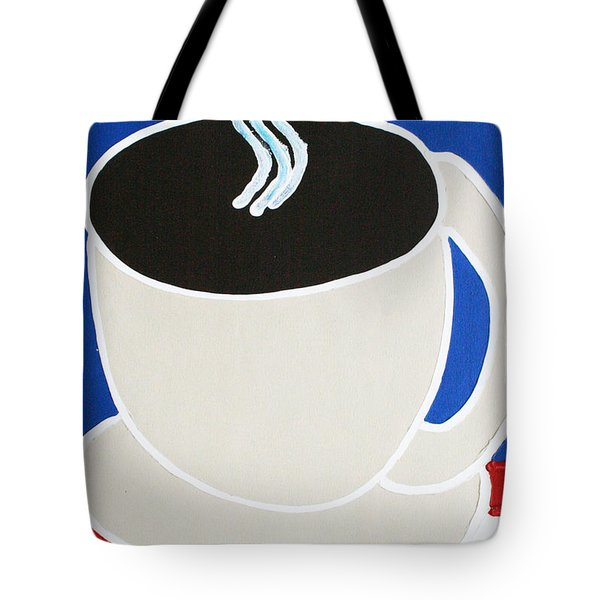 Cup Of Coffee Tote Bag by Matthew Brzostoski
