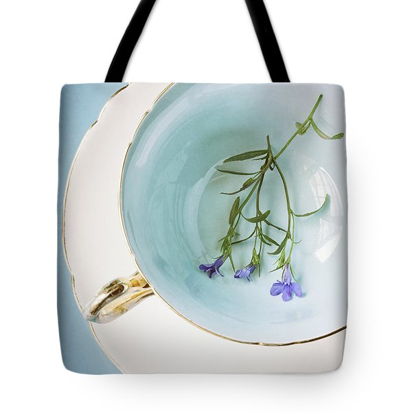 Tote Bag featuring the photograph Cup Of Three by Amy Weiss