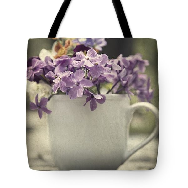 Cup Of Wildflowers Tote Bag by Edward Fielding