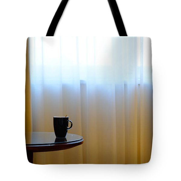 Cup On Table Tote Bag
