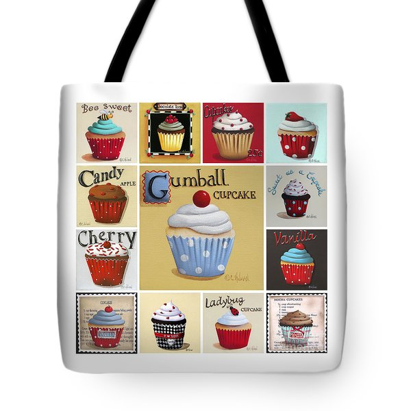 Cupcake Collage Tote Bag by Catherine Holman