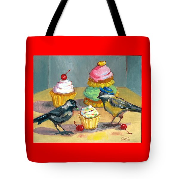 Cupcakes And Chickadees Tote Bag