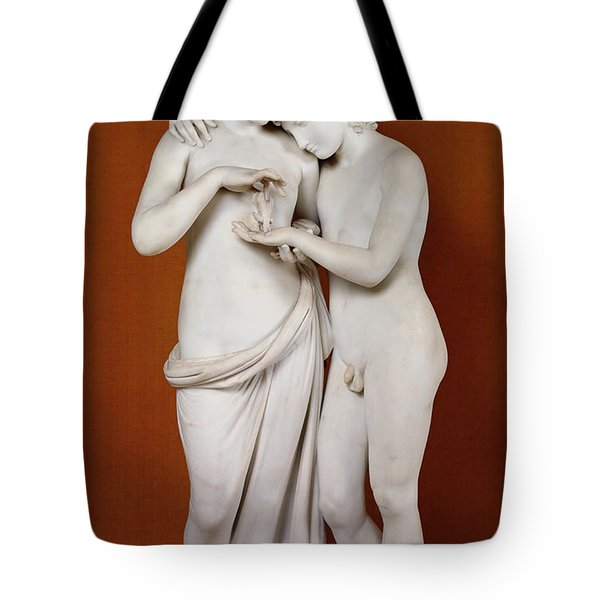Cupid And Psyche Tote Bag by Antonio Canova