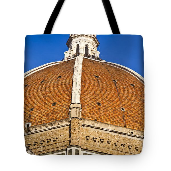 Cupola On Florence Duomo Tote Bag by Liz Leyden
