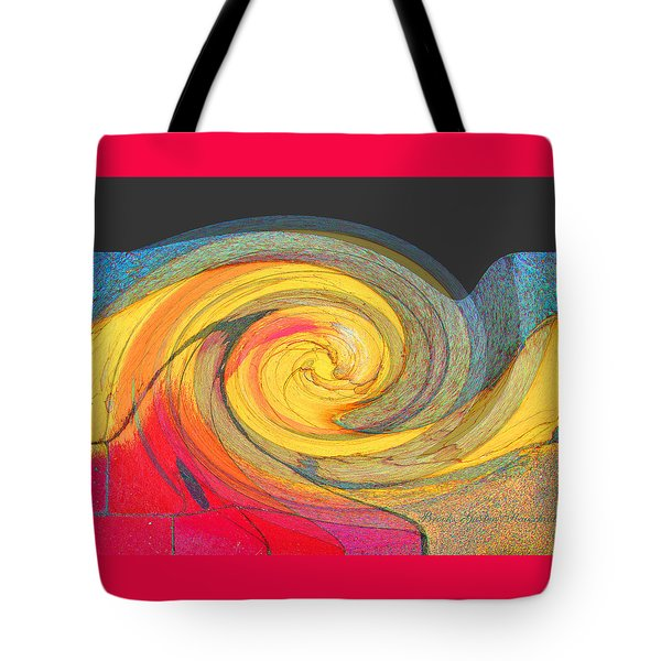 Tote Bag featuring the photograph Curb Swirl by Brooks Garten Hauschild