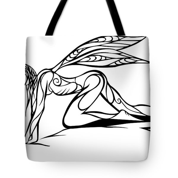 Curious Fairy 1 Tote Bag by Jamie Lynn