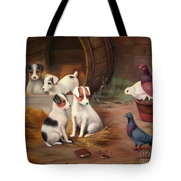 Curious Friends Tote Bag