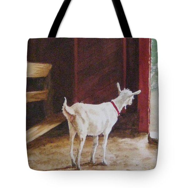 Curious Kid Tote Bag by Carla Dabney