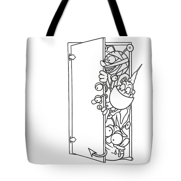 Curious Monster Tote Bag