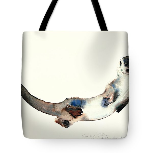 Curious Otter Tote Bag