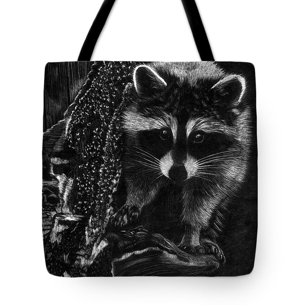 Curious Raccoon Tote Bag