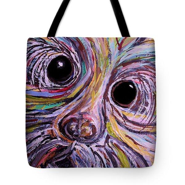 Curious Schnauzer Tote Bag by Eloise Schneider