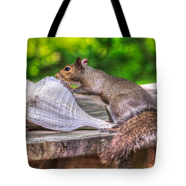 Tote Bag featuring the photograph Curious Squirrel by Rob Sellers