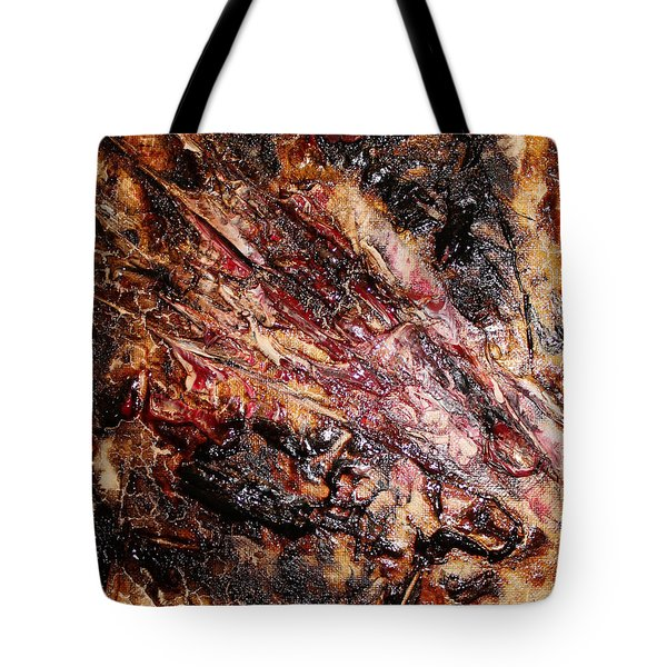 Tote Bag featuring the painting Curl Up And Dye by Lucy Matta