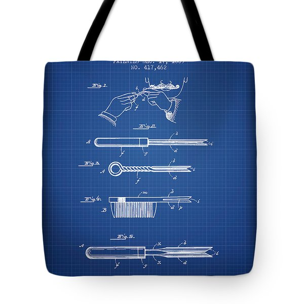 Curling Tongs Patent From 1889 - Blueprint Tote Bag
