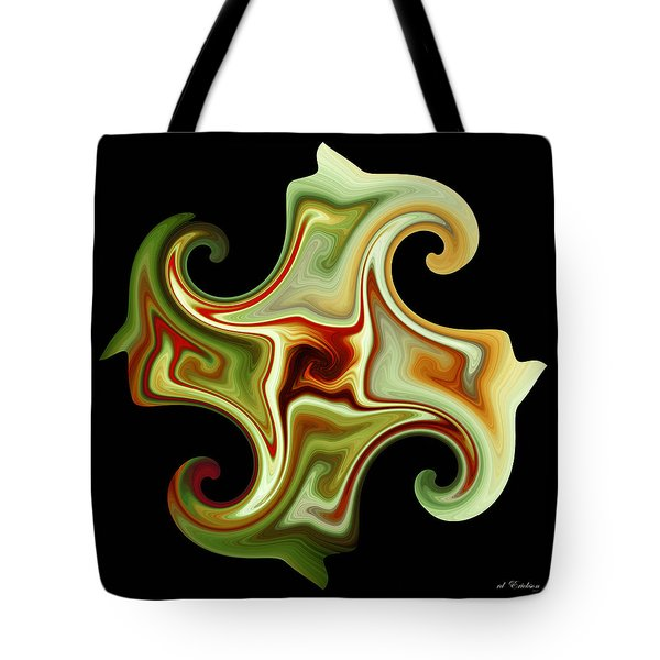 Tote Bag featuring the digital art Curls by rd Erickson