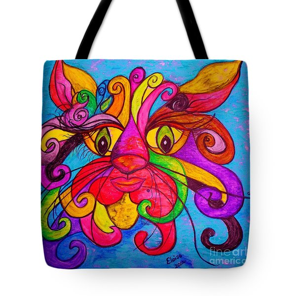 Curly Cat Love Tote Bag by Eloise Schneider