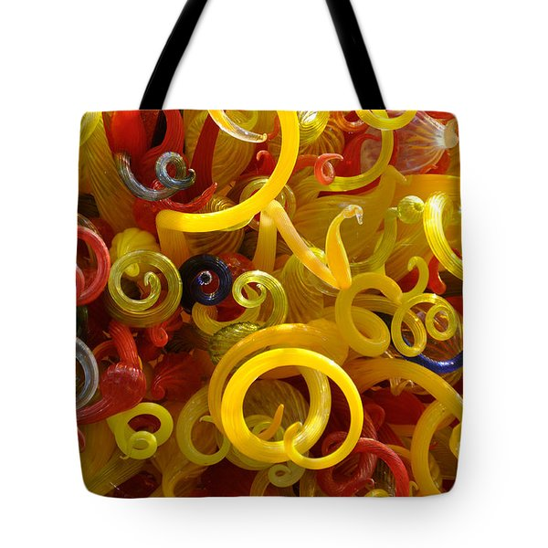 Tote Bag featuring the photograph Curly Glass by Cheryl McClure