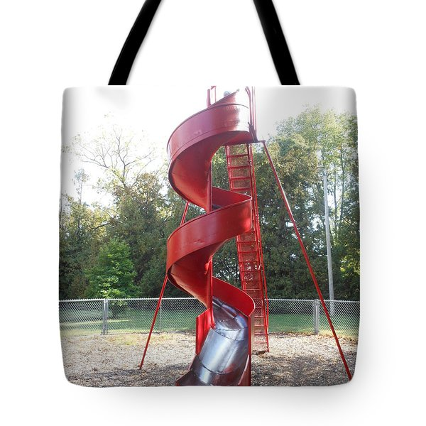 Curly Q Slide Tote Bag