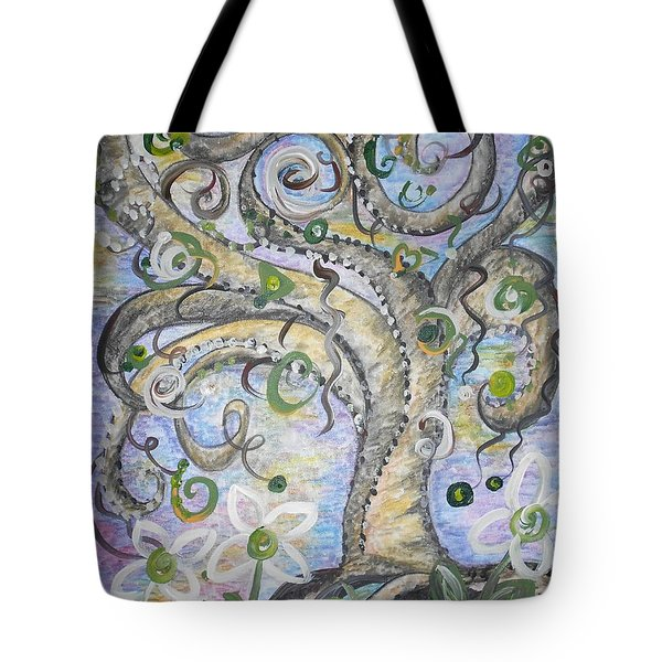 Curly Tree In Fantasy Land Tote Bag by Eloise Schneider